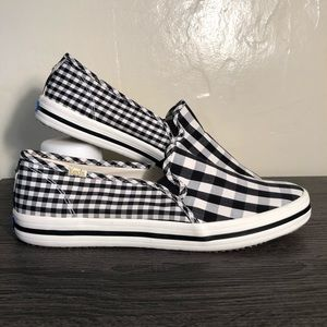 Keds x Kate Spade Black & White Gingham Loafers